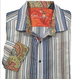 Robert Graham shirt L Large flip cuffs